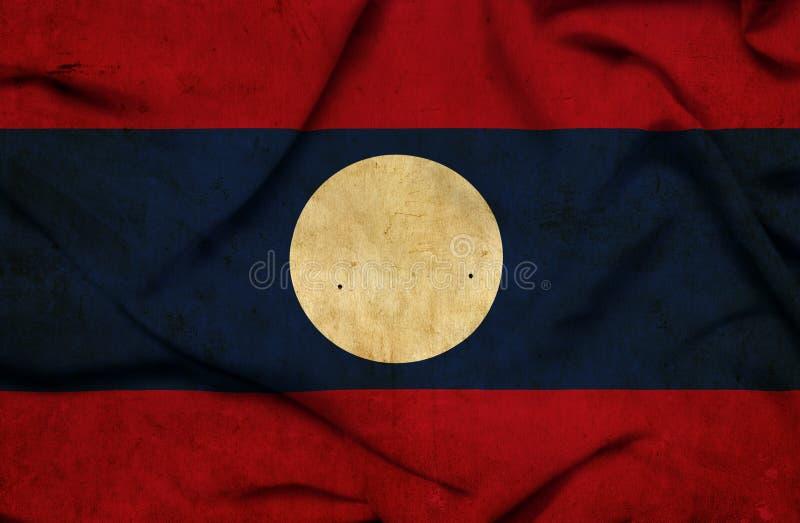 老挝挥动的旗子 库存例证