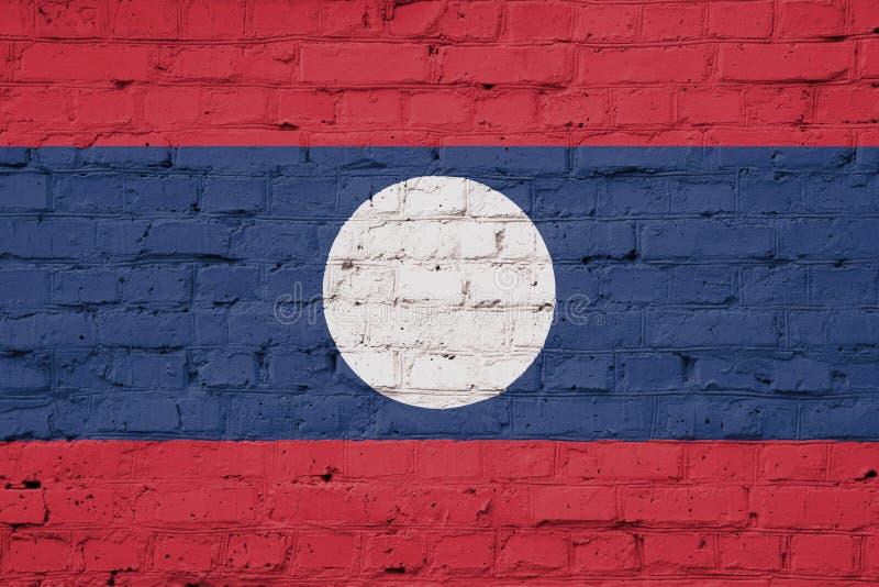 老挝旗子纹理 向量例证