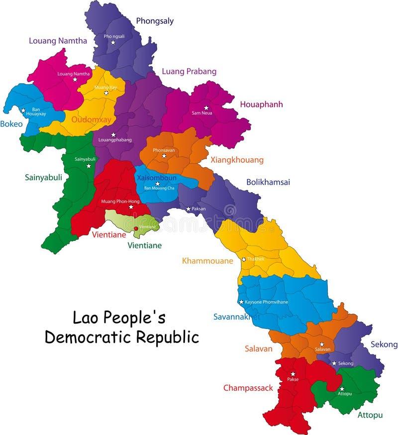 老挝映射 向量例证