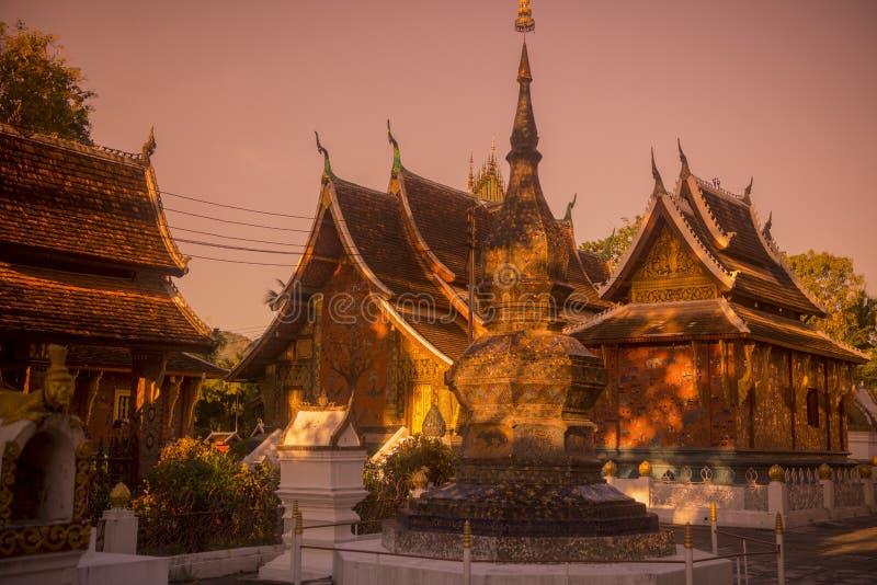 老挝琅勃拉邦WAT XIENG皮带 免版税库存照片