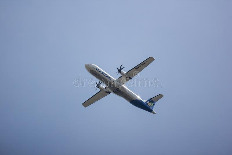 老挝航空ATR72-600  图库摄影