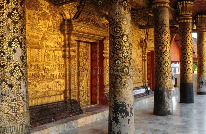 老挝:一出于在古老r的32 beautifull佛教寺庙 免版税图库摄影