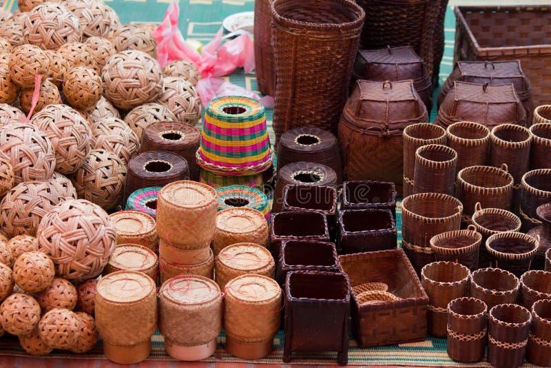 老挝luang市场prabang 免版税图库摄影
