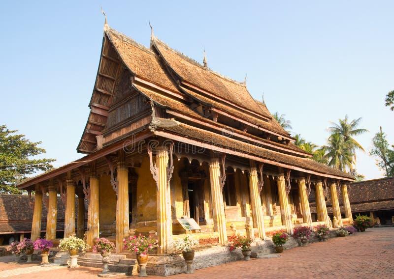 老挝sisaket万象wat 免版税库存图片