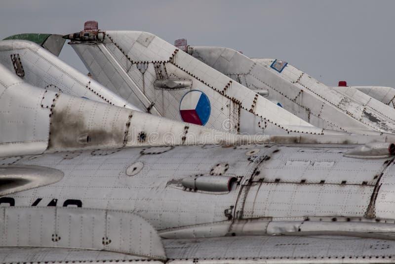 老捷克斯洛伐克的喷气机 免版税图库摄影