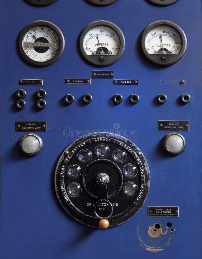老控制面板 免版税图库摄影