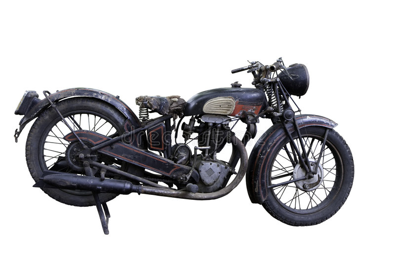 老摩托车 免版税图库摄影