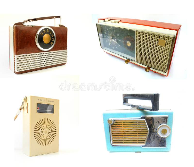 老收音机葡萄酒 库存图片