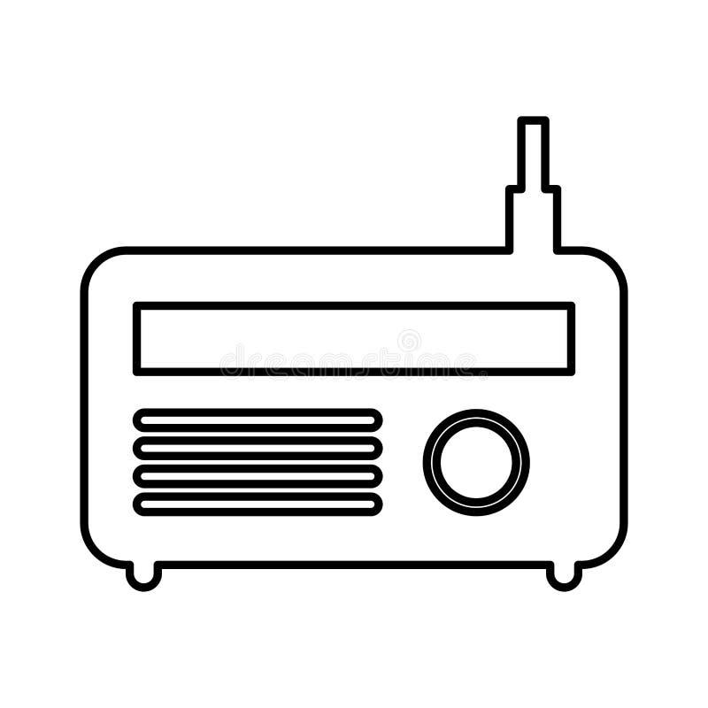 老收音机被隔绝的象 皇族释放例证
