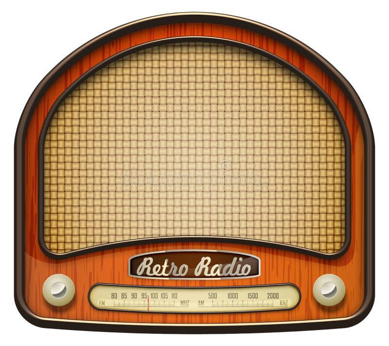 老收音机 库存例证