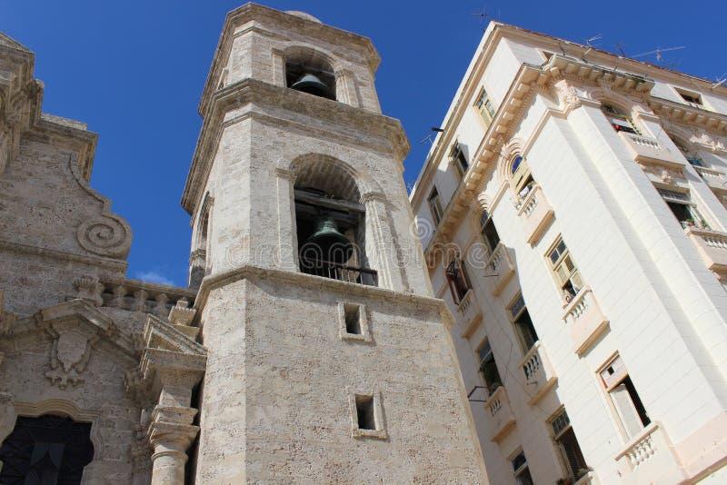 老教会在哈瓦那,古巴的历史的中心 库存图片