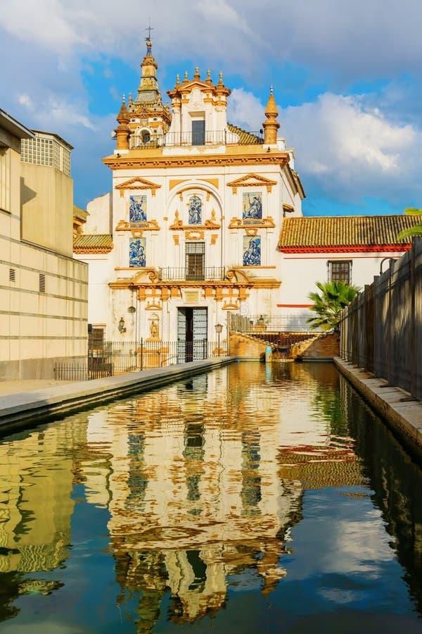 老教会在塞维利亚,西班牙 免版税图库摄影