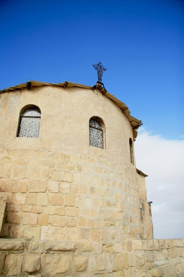 老教会在约旦 免版税库存图片