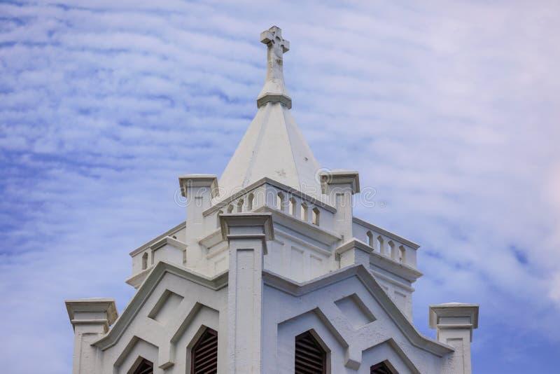 老教会基韦斯特岛FL 免版税库存照片