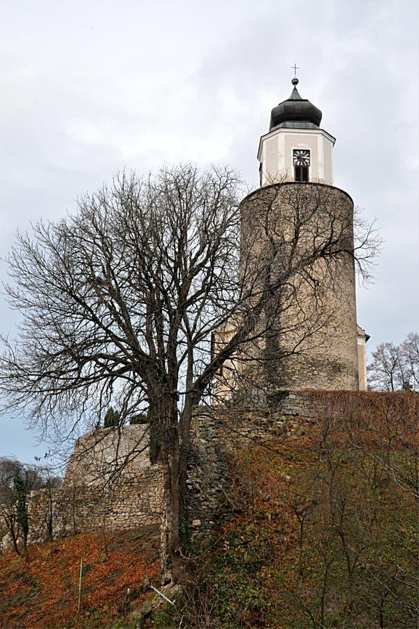 老教会,村庄Zulova,摩拉维亚,捷克共和国,欧洲 免版税库存照片