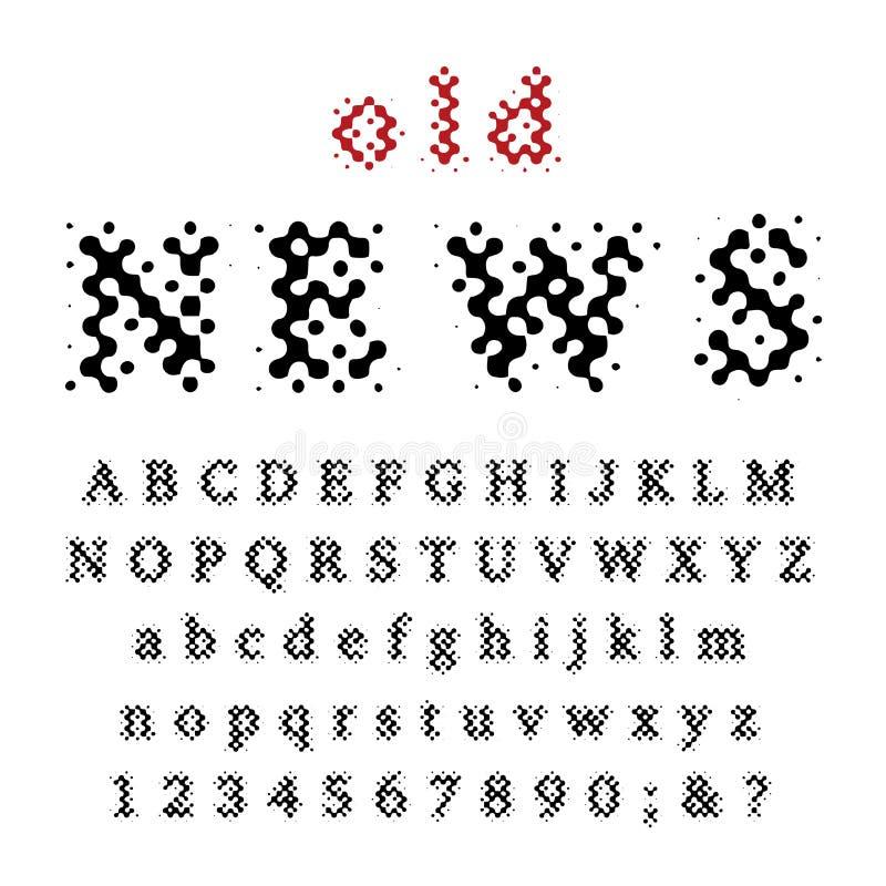 老新闻字体 皇族释放例证