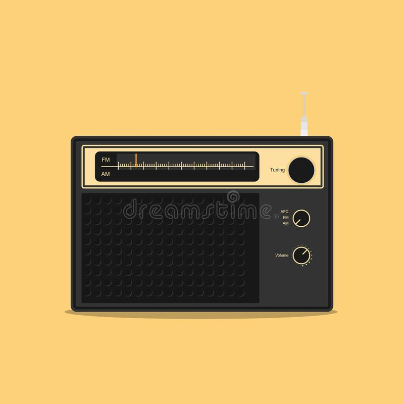 老无线电立体声平的传染媒介设计 向量例证