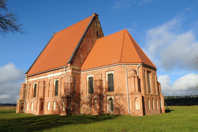 老早期的哥特式教会 图库摄影