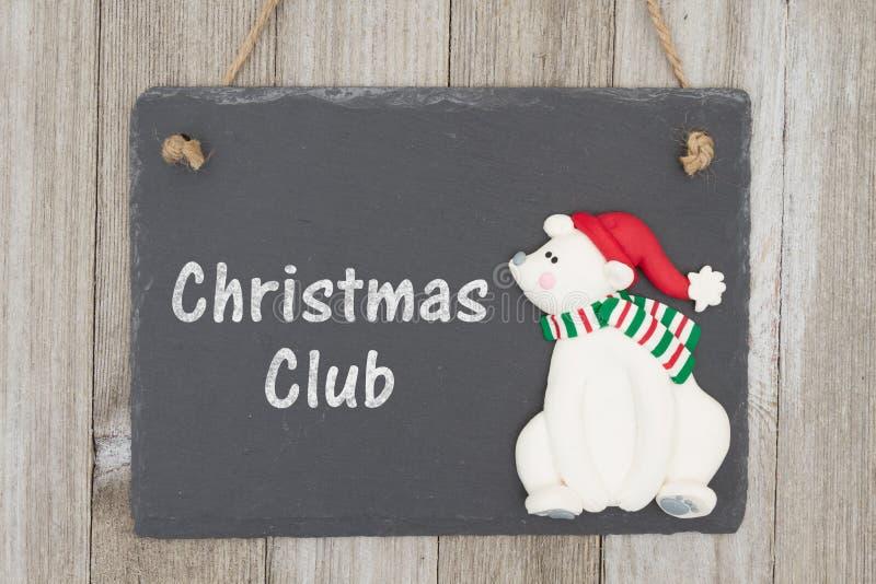 老时尚圣诞节储款计划消息 库存图片