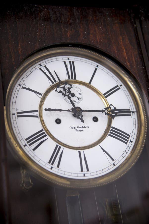 老时钟表盘-葡萄酒 免版税图库摄影