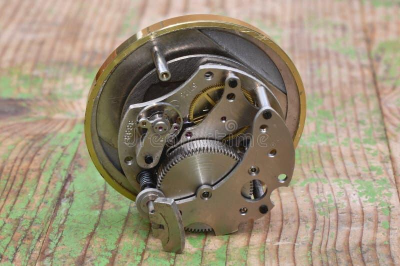 老时钟设备 图库摄影