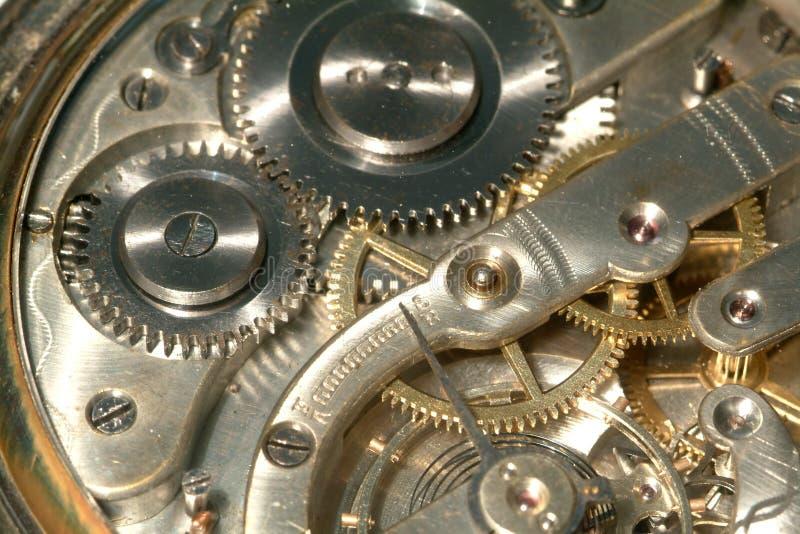 老时钟设备 免版税图库摄影