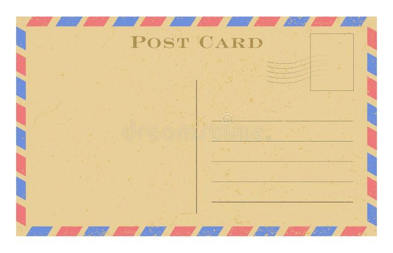 老明信片 与框架的难看的东西纸葡萄酒明信片 也corel凹道例证向量 皇族释放例证