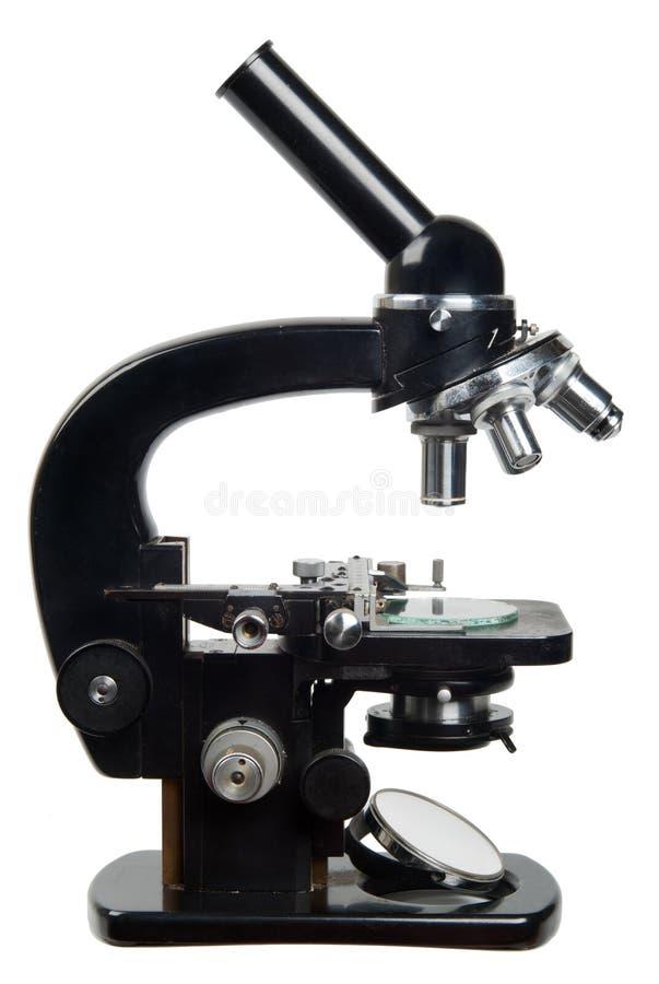 老显微镜 免版税图库摄影