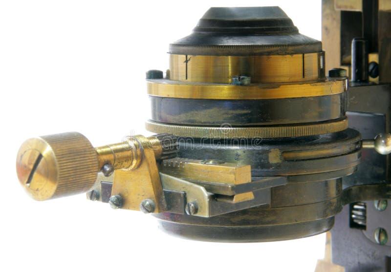 老显微镜 图库摄影