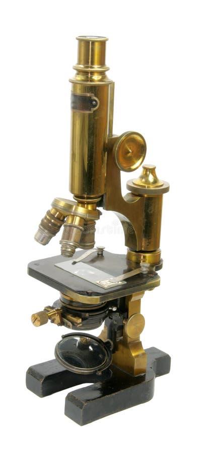 老显微镜 免版税库存照片