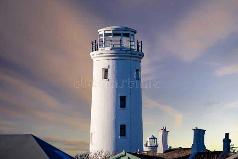 老更低的灯塔,波特兰比尔,多西特,英国 库存图片