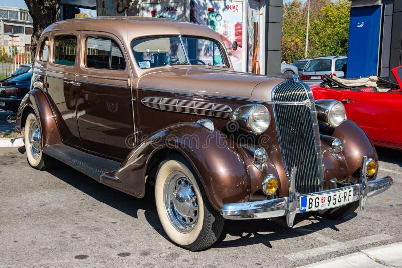 老朋友克莱斯勒气流在1936年被生产了 免版税库存图片