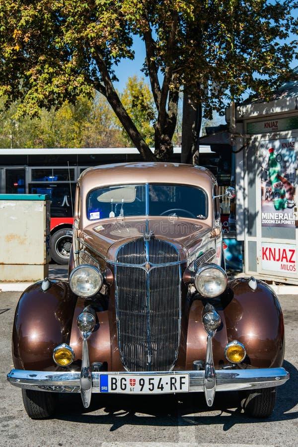 老朋友克莱斯勒气流在1936年被生产了 免版税库存照片