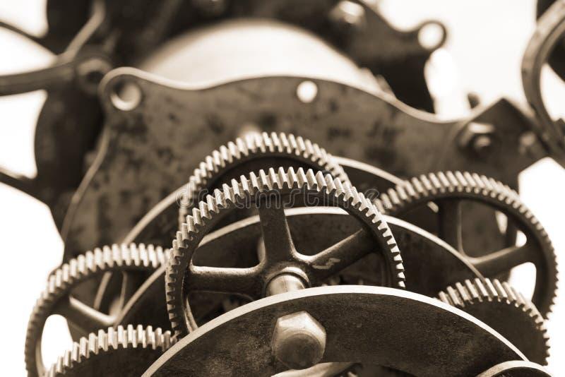 老望远镜齿轮 库存图片