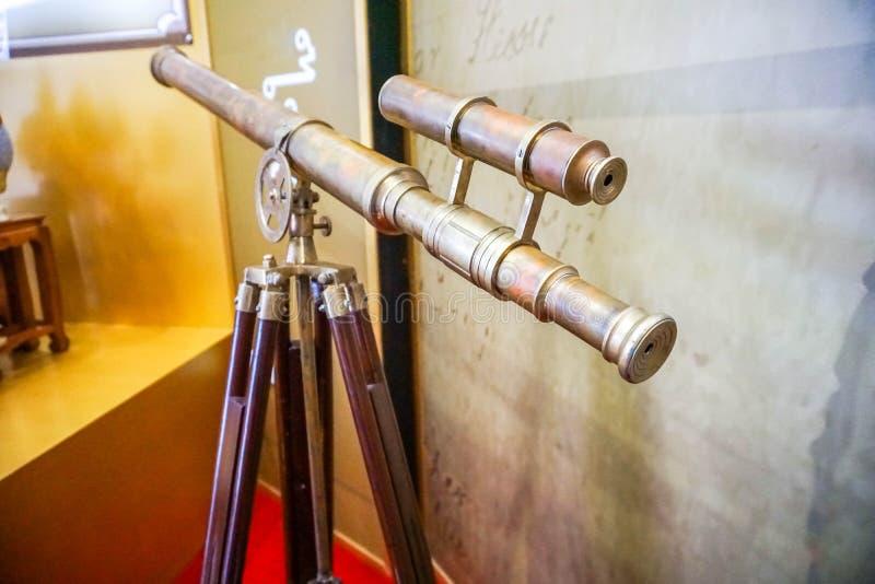 老望远镜 库存图片