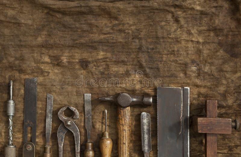 老木制品工具 免版税库存照片