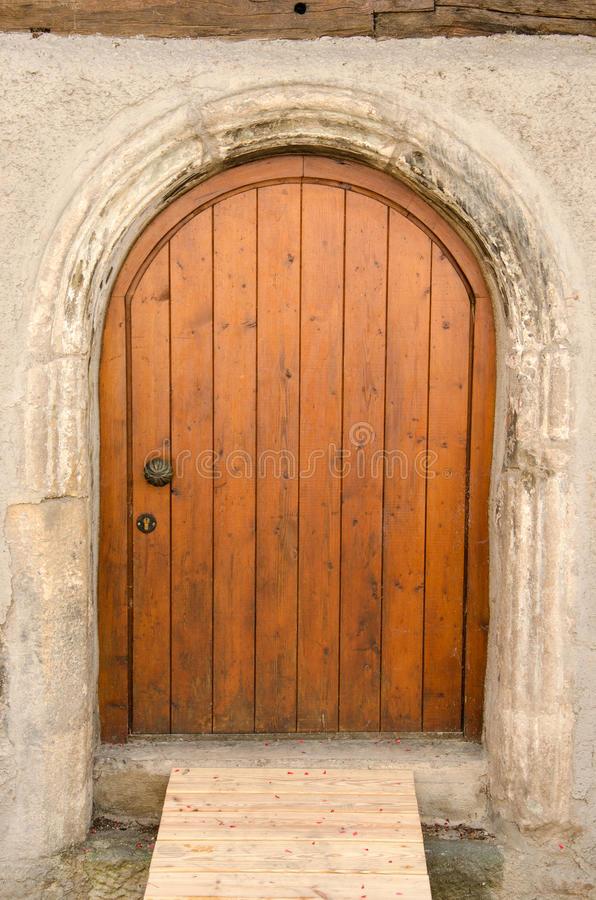 老木前门在Tuebingen,德国 免版税库存照片