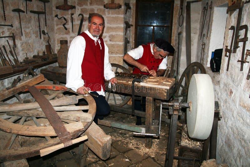 老木匠 免版税图库摄影