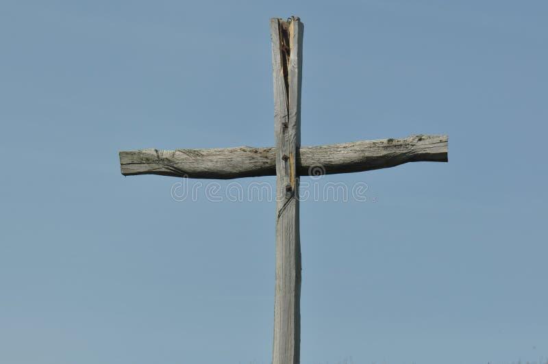 老木十字架 库存图片