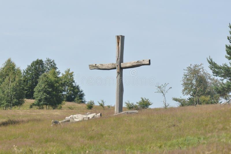 老木十字架 免版税图库摄影