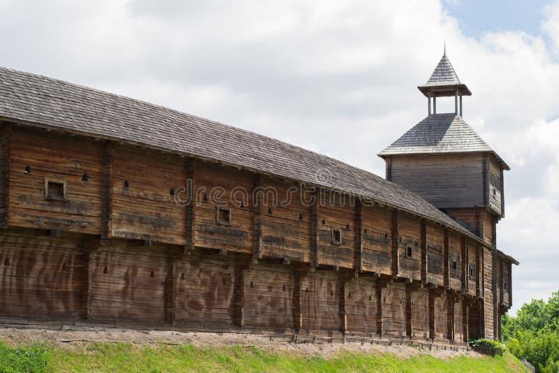 老木哥萨克堡垒,巴图林,乌克兰照片  免版税库存照片