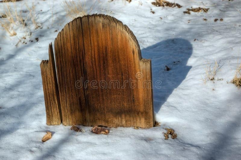 老木墓碑 库存照片