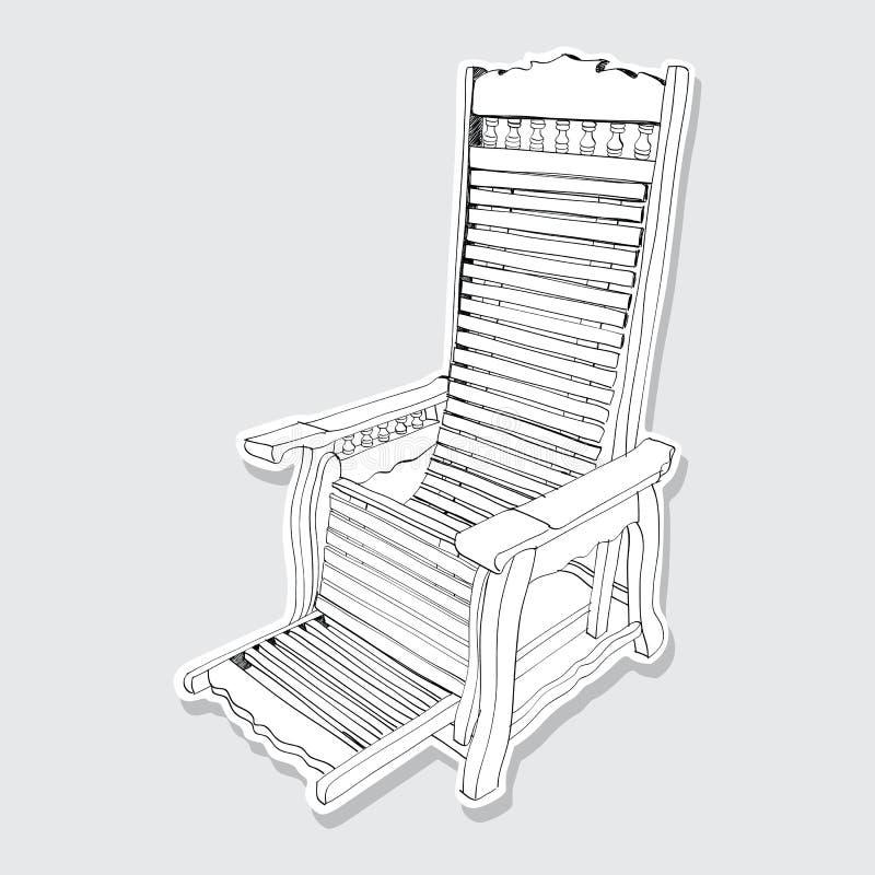 手拉老木的摇椅- 皇族释放例证