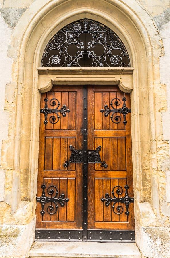 老木教会门 萨格勒布 库存图片