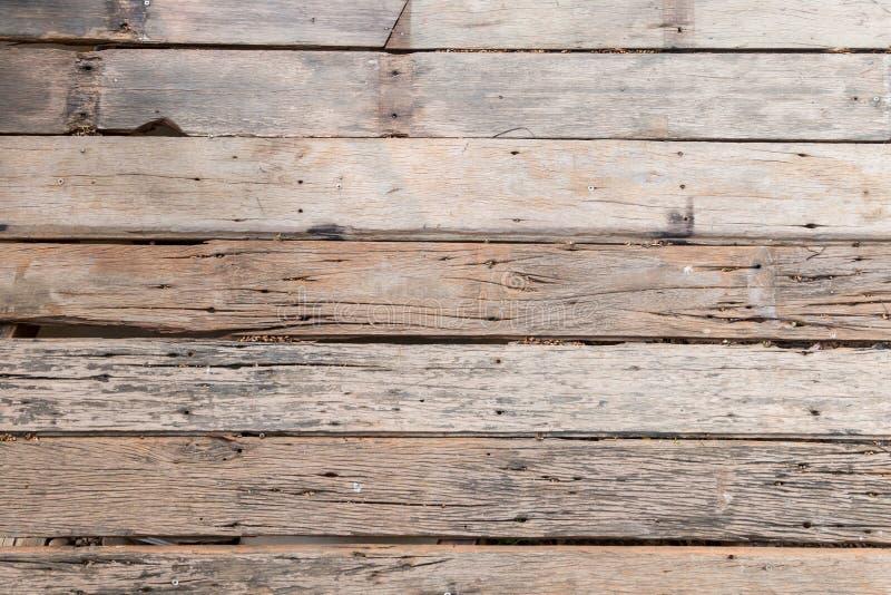老木板条地板,纹理 库存图片