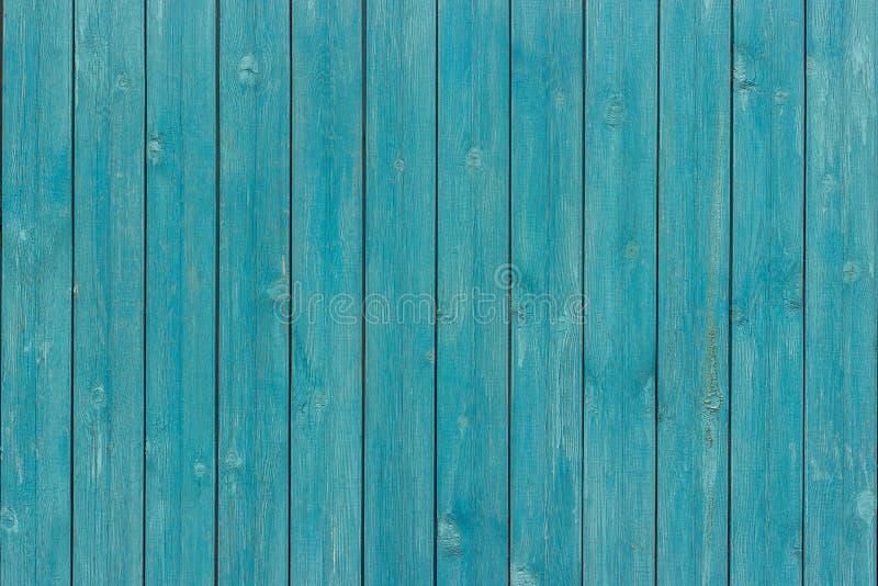 老木板条委员会被绘的蓝色颜色 库存图片
