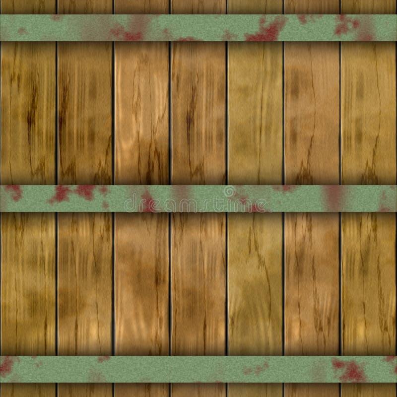 老木板条桶木板条无缝的样式纹理背景 向量例证