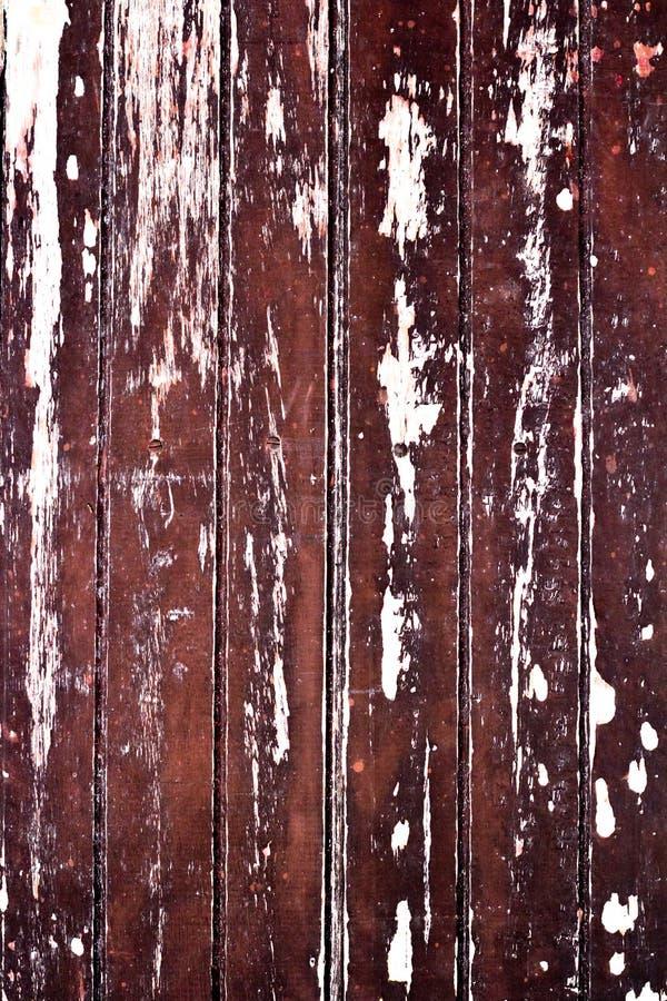 老木板条破裂的纹理 免版税库存照片