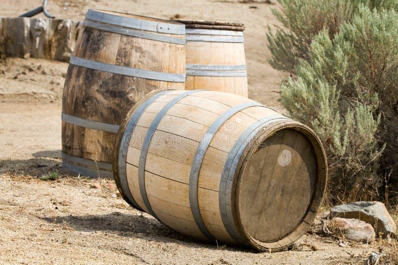老木桶 免版税图库摄影