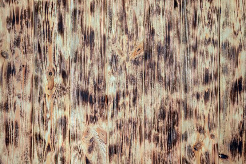 老木棕色背景withl样式,木头纹理,葡萄酒板,从天然材料的墙壁 免版税库存图片